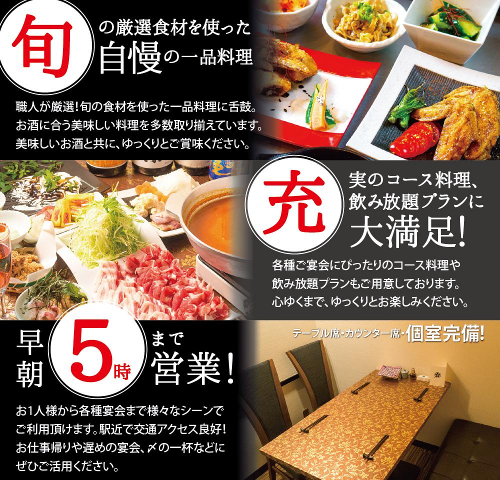 中洲の「うまかもんがここにある」情熱飯屋 博多心風